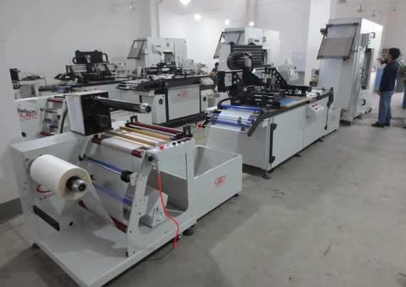Roll-Roll Screen Printing Machine do PVC, PET
